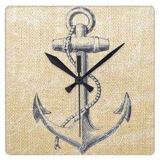 Anchor Square Wall Clock