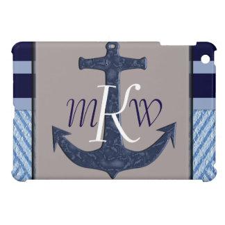 Anchor & Stripes Nautical Design Case For The iPad Mini