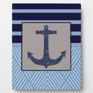 Anchor & Stripes Nautical Design Display Plaques