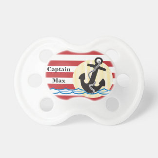 Anchor, Sun and Water Personalized Pacifier
