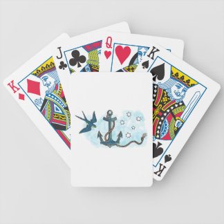 Anchor Swallow Southern Star Tattoo Bicycle Playing Cards