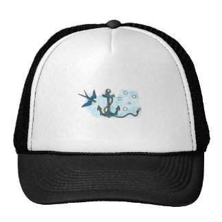 Anchor Swallow Southern Star Tattoo Cap