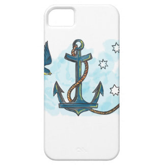 Anchor Swallow Southern Star Tattoo Case For The iPhone 5