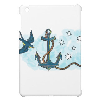 Anchor Swallow Southern Star Tattoo iPad Mini Cover