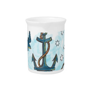 Anchor Swallow Southern Star Tattoo Pitcher