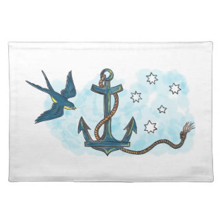 Anchor Swallow Southern Star Tattoo Placemat