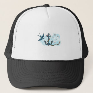 Anchor Swallow Southern Star Tattoo Trucker Hat
