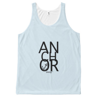 Anchor Sway™ Baby Blue All-Over Print Tank Top