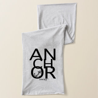 Anchor Sway™ Black on Grey Jersey Scarf