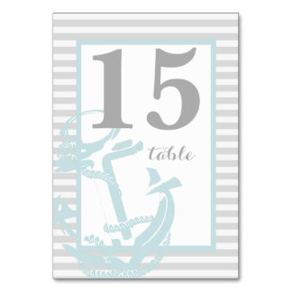 Anchor Table Number Card