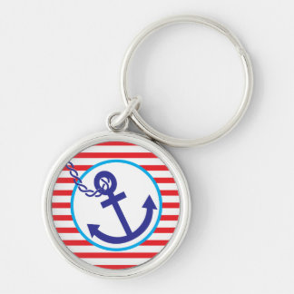 Anchor Twisted Rope Stripes Key chain