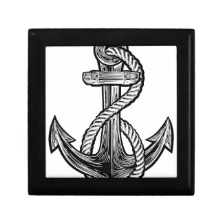 Anchor Vintage Style Tattoo Illustration Gift Box