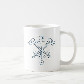 Anchor with crossed axes. Design elements Coffee Mug