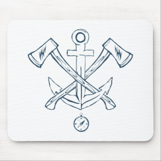 Anchor with crossed axes. Design elements Mouse Pad