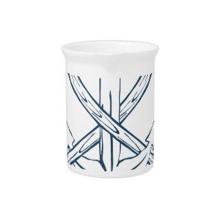 Anchor with crossed axes. Design elements Pitcher