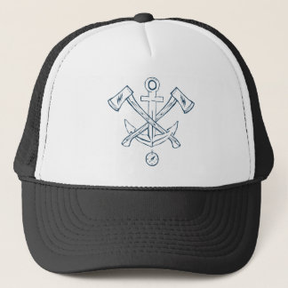 Anchor with crossed axes. Design elements Trucker Hat