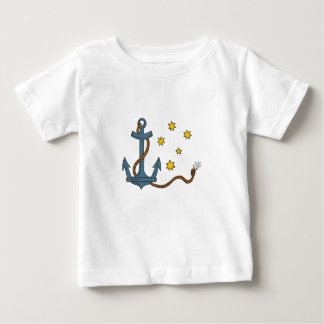 Anchor with Rope and Southern Star Drawing Baby T-Shirt