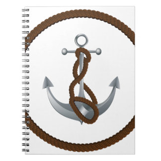 Anchor with rope notebooks