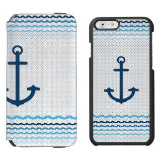 Anchor Yach Boat Marine Sail Sailing Incipio Watson™ iPhone 6 Wallet Case