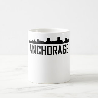 Anchorage Alaska City Skyline Coffee Mug