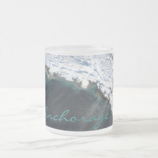 Anchorage Alaska Dust Storm Frosted Glass Mug