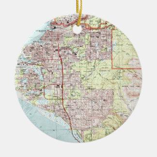 Anchorage Alaska Map (1994) Ceramic Ornament