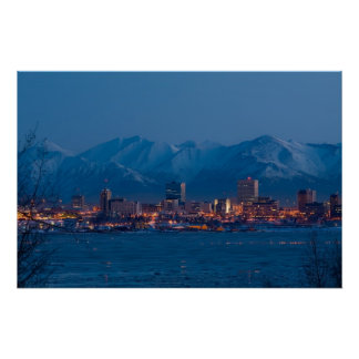 ANCHORAGE ALASKA NIGHTS POSTER