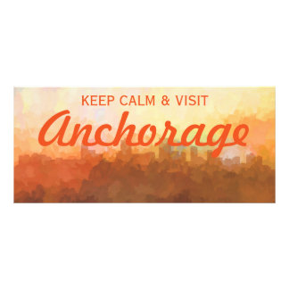 Anchorage Alaska Skyline IN CLOUDS Personalized Rack Card