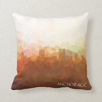 Anchorage, Alaska Skyline-In the Clouds Cushion