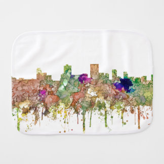 Anchorage Alaska Skyline SG-Faded Glory Burp Cloth