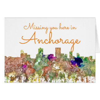 Anchorage, Alaska Skyline SG-Faded Glory Card