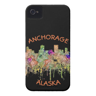 Anchorage Alaska Skyline SG-Faded Glory Case-Mate iPhone 4 Case