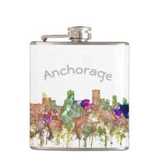 Anchorage, Alaska Skyline SG-Faded Glory Hip Flask