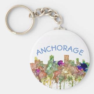 Anchorage Alaska Skyline SG-Faded Glory Key Ring