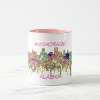 Anchorage Alaska Skyline SG-Faded Glory Mug