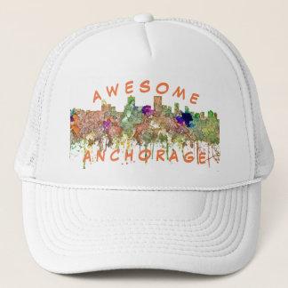 Anchorage Alaska Skyline SG-Faded Glory Trucker Hat