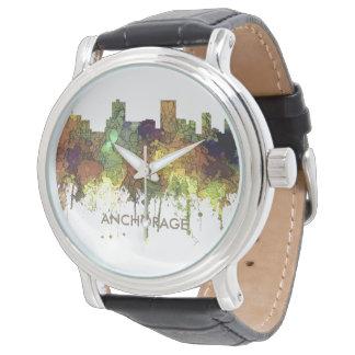 Anchorage, Alaska Skyline - SG - Safari Buff Watch