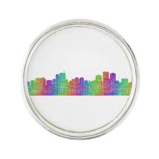 Anchorage skyline lapel pin