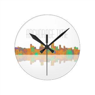 Anchorage Skyline Round Clock