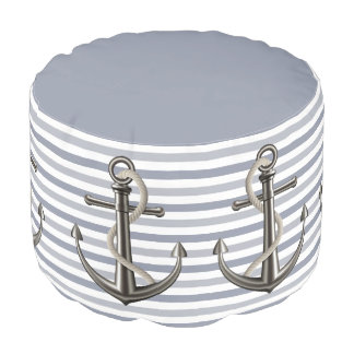 Anchored Rope (Striped) Pouf