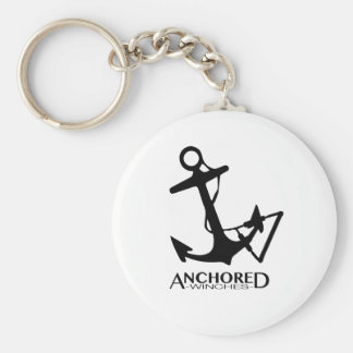 Anchored winch company basic round button key ring