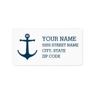 Anchors Away Address Label