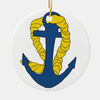 Anchors Away Ceramic Ornament