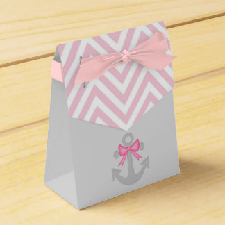 Anchors Away Girl Baby Shower Favor Boxes