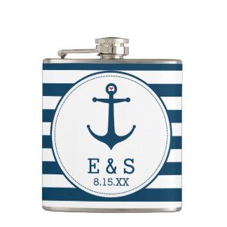 Anchors Away Hip Flask