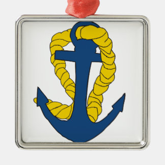 Anchors Away Metal Ornament