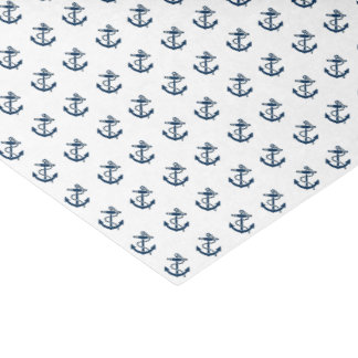 Anchors Away Nautical Personalize Tissue Paper