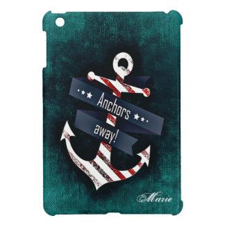 Anchors Away Print Nautical Anchor Monogram iPad Mini Cases