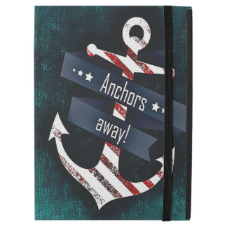 Anchors Away Print Red White Nautical Anchor