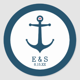 Anchors Away Round Sticker